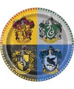 Assiettes Harry Potter - assiettes en carton d'un diamètre de 22 cm idéales pour une décoration d'anniversaire Harry Potter