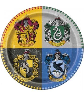 8 assiettes Harry Potter - 22 cm