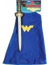 Kit épée + cape Wonder Woman fille