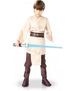 Déguisement de Jedi pour enfant luxe avec tunique, pantalon et ceinture idéal pour incarner Obi Wan Kenobi ou Luke Skywalker