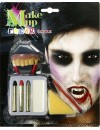 Maquillage vampire avec dentier et 4 couleurs - maquillage Halloween