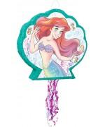 Pinata Ariel la petite sirène en forme de coquillage idéale pour réaliser une décoration d'anniversaire Disney pour fille