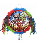 Pinata Marvel Avengers aux couleurs de Captain America, Iron Man, Hulk et Thor