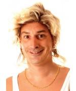 Perruque beauf pour homme coiffure effet décolorée.