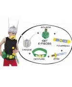 Kit d'accessoires Astérix pour enfant avec le casque, l'épée, le fourreau, la gourde et la ceinture - Astérix et Obélix