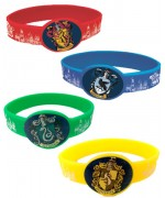 bracelets Harry Potter, 4 bracelets aux couleurs des maisons de Poudlard