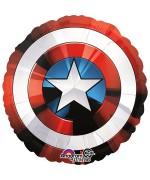 Ballon Hélium Marvel Avengers en forme de bouclier de Captain America
