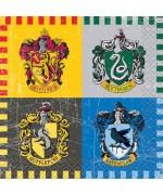 serviettes Harry Potter, lot de 16 petites serviettes de 24 x 24 cm - décoration de table