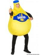déguisement bouteille d'Orangina jaune pour homme