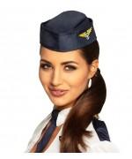 Chapeau d'hôtesse de l'air en tissu idéal pour accessoiriser votre tenue