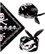 Bandana noir idéal pour compléter un déguisement de pirate (3 façons de le porter)