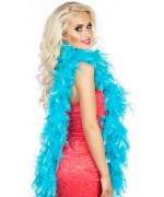 Boa bleu turquoise en plumes idéal pour accessoiriser votre déguisement pour le carnaval