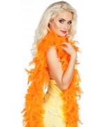 boa orange en plumes 50 gr idéal pour le carnaval ou une soirée à thème