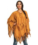 Poncho d'indienne pour femme, taille unique