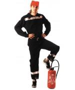 Déguisement de pompier pour homme, incarnez un pompier français à l'occasion d'une soirée sur le thème des métiers