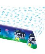 Nappe Battle Royal en papier d'environ 137 cm par 243 cm idéale pour réaliser votre déco de table sur le thème Fortnite