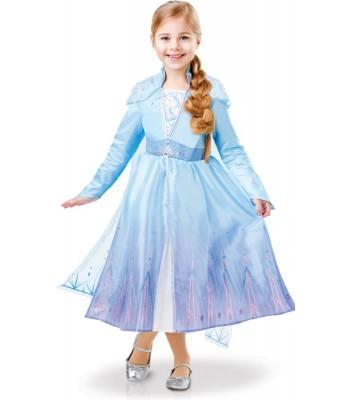 Déguisement Elsa fille luxe - La Reine des Neiges 2