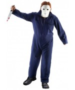 Déguisement Michael Meyers pour homme, combinaison bleue foncée de personnage de film d'horreur