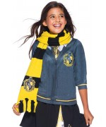 Écharpe Poufsouffle luxe sous licence Harry Potter portée par une fille