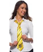 Harry Potter cravate Poufsouffle idéal pour lui permettre de porter les couleurs de sa maison préférée de Poudlard