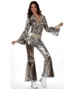 Deguisement disco pour femme couleur argent