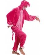 Déguisement Panthère Rose pour adulte en matière peluche, un costume idéal pour le carnaval ou une soirée festive