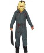 déguisement de tueur en série pour garçon idéal pour incarner Jason du film d'horreur Vendredi 13