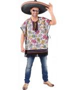 Poncho Mexicain Dia De Los Muertos idéal pour fêter un Hallowee Mexicain