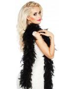 boa noir en plumes idéal pour accessoiriser votre tenue cabaret