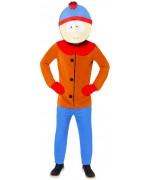 Déguisement de Stan du dessin animé South Park pour homme avec combinaison et masque
