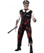 Déguisement de policier zombie - Halloween adulte