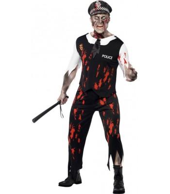 Déguisement zombie policier halloween