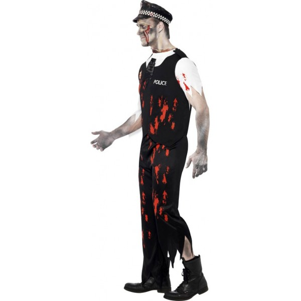 d guisement zombie policier halloween la magie du d guisement achat vente de deguisements. Black Bedroom Furniture Sets. Home Design Ideas