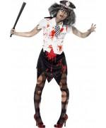 déguisement policier zombie pour femme - Halloween