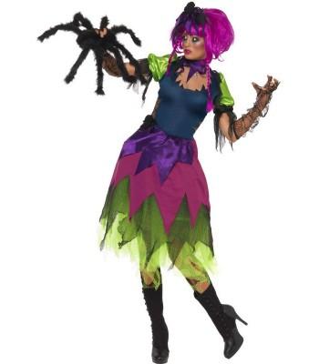 Déguisement sorcière multicolore adulte