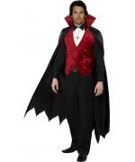 deguisement vampire adulte noir et rouge - Halloween