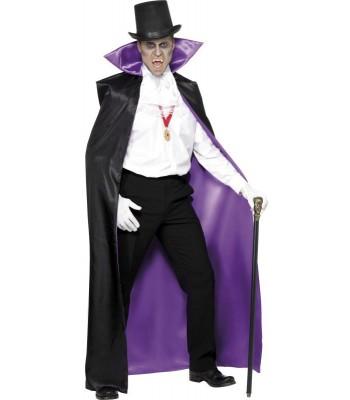 Cape vampire réversible noir ou violet