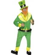 deguisement Saint Patrick homme, costume irlandais avec chapeau et barbe
