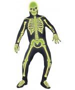 Déguisement squelette phosphorescent halloween adulte
