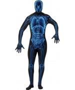 Déguisement seconde peau Halloween, combinaison squelette rayons X