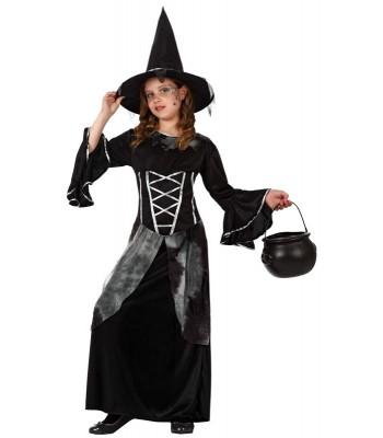 Déguisement sorcière noire fille
