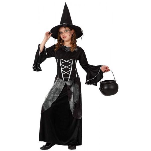 d guisement de sorci re noire fille la magie du d guisement achat d guisement halloween enfant. Black Bedroom Furniture Sets. Home Design Ideas