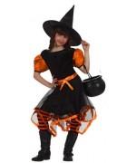 déguisement enfant, petite sorcière fashion orange
