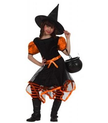 déguisement sorcière fashion orange
