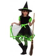 déguisement petite sorcière verte - Halloween enfant