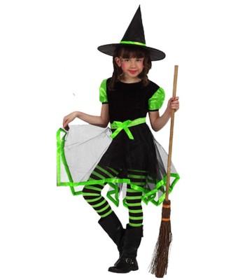 Déguisement sorcière fashion verte