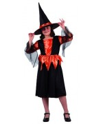 Costume sorcière halloween orange