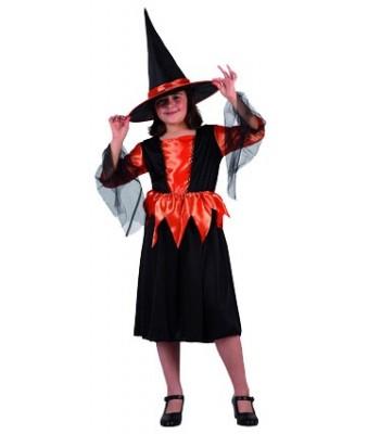 déguisement petite sorcière orange