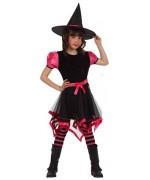 deguisement sorciere rouge et noir, halloween enfant