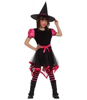 déguisement sorcière fashion rose